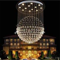 modern lüks kristal avizeler kolye lambası toptan satış-Lüks Modern Avize tasarım K9 kristal işık kolye lamba ile 35 W LED GU10 Ampuller LED Tavan Işık Küre karahindiba Şekli Lambaları