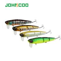 Wholesale wobbler lure topwater resale online - Fishing Lures JOHNCOO Professional Segment Minnow mm g Artificial Fishing Lure Topwater Wobbler Minnow Bass Pike Bait