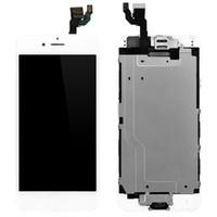 iphone blende montage großhandel-Top-Qualität für iPhone 6 6s LCD Full Set mit Digitizer Lünette Frame + Home Button + Frontkamera komplette Montage Kostenloser Versand