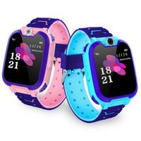 chica gp al por mayor-Multi-función de los niños impermeables de llamada perdida anti-reloj inteligente de posicionamiento GPS SOS SmartWatch para los muchachos / muchachas