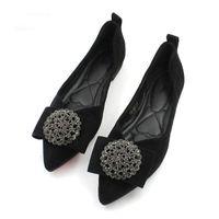 sapatos de borboleta homens venda por atacado-Rebites Borboleta-nó Sapatos Baixos Wo # men Elegante Rasa Casuais Confortáveis Barco Sapatos de Dança Macia Do Partido mulheres
