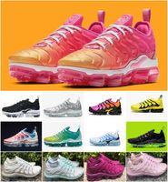 için takım ayakkabıları toptan satış-2019 Artı Tn Gökkuşağı Ayakkabı mens Bumblebee Gerçek Üzüm Olabilir Üçlü Siyah Tasarımcı Ayakkabı Bayan Şerbet Takım Kırmızı Chaussures Siyah Beyaz Sneakers