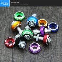 Wholesale Electric Vehicle License Plate Decoration Color Screws mm Carving Screw Pedal Motorcycle Modification Parts License Screws