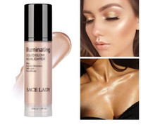 Wholesale face shimmer highlighter for sale - Group buy Illuminator Makeup Highlighter Cream for Face and Body Shimmer Make Up Liquid Brighten Professional Glow Kit Cosmetic