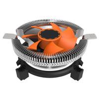 intel soğutucu fan toptan satış-Yeni düşük gürültü CPU Soğutma Soğutucu Fan Soğutucu 7 Blade Için Intel LGA 775 1155 1156 AMD 754 AM2 # T2