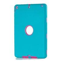 ipad air2 tablet оптовых-Комбинированный дизайн робота 3 в 1 гибридный чехол для планшета Силиконовый ПК ударопрочный чехол для iPad 5 6 Air2 Pro 12.9 10.5 9.7 2018 новый Mini 1 2 3 OppBag 8