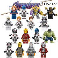koruma blokları toptan satış-Avengers 4 Son Oyun Minifigured Modeli Thanos Demir Adam Hulk Thor Yapı Taşları Tuğlalar Çocuk hediyeleri D157-D172 33 için oyuncaklar
