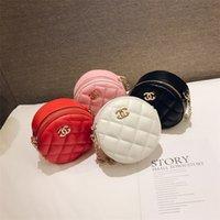 bolsas cruz linda venda por atacado-Crianças Bolsas de Grife de Moda Coreano Meninas Do Bebê Mini Princesa Bolsas Adorável Designer de Crianças Sacos Redondos Meninas Cross-body Bags Borthday Presentes B