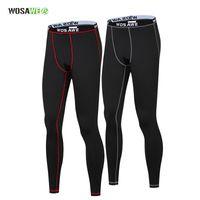 thermische strumpfhosen herren großhandel-WOSAWE Thermal Waist Tights Fitness Herren Sport Leggings Laufhose Warm Up Gym Jogger Jogginghose