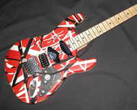 Wholesale cases for guitars for sale - Group buy Rare Aged Relic Eddie Van Halen Striped Series Red Black White Guitar Frankenstrat Modified Reliced Vintage Electric Guitars w Case
