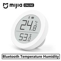 ingrosso termometro di umidità-Xiaomi Clear grass Termometro Bluetooth Schermo LCD ad alta sensibilità Hygrothermograph Sensore di umidità Sensore Registrazione automatica