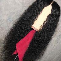malezya saç perukları işlenmemiş toptan satış-Tam dantel İnsan saç peruk İnsan saç dantel ön peruk 13 * 4 Kıvırcık Bebek Saç Bleach Knot İşlenmemiş doğal saç çizgisi Malezya wowwigs