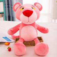 ingrosso rosa rosa pantera giocattolo-La peluche rosa della bambola della bambola dei pp degli animali farciti della pantera gioca i giocattoli farciti della pantera della rosa del fumetto le migliori ragazze per i giocattoli dei bambini