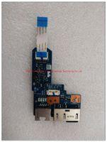 lector de tarjetas lenovo al por mayor-Para lenovo ThinkPad Edge E440 portátil VILE1 USB LAN Board NS-A151 VILE1 RJ45 DB CABLE DC02C003C00 USB Reader Board Board NS-A152