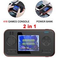 bağlantı noktası video toptan satış-Güç Bankası El Video Oyun Konsolu Oyun Oyuncu Embutido 416 Jogos Çift USB çıkış portu tüm telefon için mobil güç Carregador Sıcak Satış