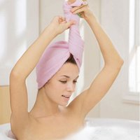 Wholesale living hair for sale - Group buy Microfiber Towel Microfiber Towels Shampoo Cap Turban Soft Dry Hair Hat Handdoeken Spa Drying Recznik Home Living