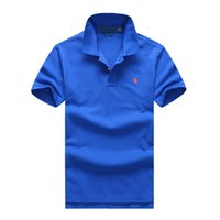 Wholesale polo ralph tops online - Polo ralph t shirts lauren mens polos brand men luxury shirts men designer clothing t shirts Embroidery Pony mark top quality polos mens tee