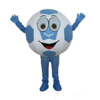 футбол характер оптовых-Хеллоуин футбол костюм талисмана Высокое качество мультфильм г-н футбол аниме тема персонаж рождественский карнавал ну вечеринку костюмы