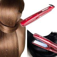 alisador de cabelo moda venda por atacado-Moda quente Aquecimento 4 Modos Anion Ajuste vapor Straightener seco e molhado Curler modelador de cabelo secador de cabelo Cuidado profissional