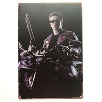 ingrosso giardino segno-The Terminator Vintage Metal Sign Decorativo Cafe Bar Garden Room Garage Club Gas Station Dipinto Retro Poster