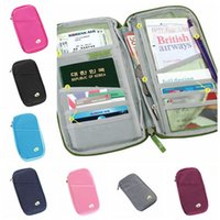 Wholesale credit card organizer purse for sale - Group buy Passport Holder Ticket Wallet ID Credit Card Storage Bag Travel Passport Wallet Holder Organizer Purse Bag Outdoor Bags CCA11758