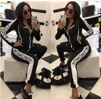 sudadera ajustada al por mayor-Sudadera con capucha legging 2 piezas set mujer diseñador chándal trajes de manga larga bodycon sudadera medias traje deportivo jersey pantalones g6 caliente