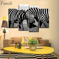 Wholesale Horse Decor For Home For Sale   Mordern Canvas Painting Zebra  Frameless Animal Art Poster