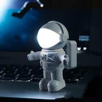 aydınlatma kitapları toptan satış-Astronot Led Gece Işık Astronot Stil Usb Power Küçük Lambası Kitap Işık Klavye Lambası Noel Hediyesi Ev Ofis Süsleme