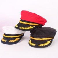Sailor Blanc Capitaine Hat Navy Cap Adulte Fête Robe Fantaisie