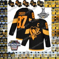 ingrosso maglia gialla mario lemieux-2019 Pittsburgh Penguins NUOVO MARCHIO # 66 Mario Lemieux 72 Hornqvist Murray Letang Guentzel Malkin Crosby Giallo Bianco Nero Hockey Jersey