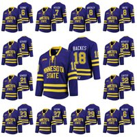 Wholesale Minnesota State Mavericks NCAA College Hockey Jersey Parker Tuomie Tyler Pitlick Daniel Brickley Nathan Smith Charlie Gerard David Backes