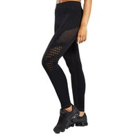 Wholesale breathe yoga pants for sale - High Quality Professional Yoga Pants Running Sports Fitness gym Trousers Outdoor Slimming hollow out Resilient Grid with Holes Breathing