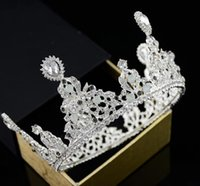 coroas redondas para noivas venda por atacado-Jóia da noiva das Crianças Bolo de Coroa Baking Decoração de Água Diamante Rodada Cabeça Jóias Jóias de Cabelo Coreano Novo Estilo