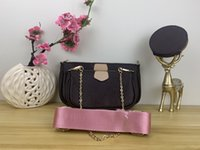 Wholesale pu accessories resale online - favorite multi pochette accessories handbag purse genuine leather flower shoulder crossbody bag ladies purses purse bags