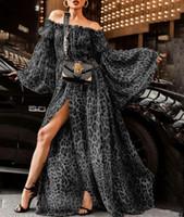 laternenstil kleid großhandel-Frauen Kleidung Sexy Leopard Kragen Designer Kleid Kleider für Frauen Nachtclub Kleider Luxus Designer Damen Kleider