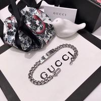 pulseira de design de jóias venda por atacado-Top marca de aço inoxidável 316L punk pulseira com projeto fantasma para as mulheres pulseira em 18.5 cm presente da jóia do casamento PS5399A-6