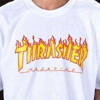 camisetas para mujer xxl al por mayor-Trasher Tee S a XXL Revista al por mayor Logo Flame Camiseta Hombre Camiseta para mujer Diseño Camisetas Casual Cool Tops Summer Cool Funny T-Shirt