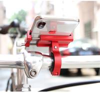 поддержка велосипеда оптовых-Алюминиевый держатель для велосипедного телефона для 3,5-6,2-дюймового смартфона Регулируемая поддержка GPS Велосипедная подставка для телефона