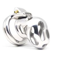 männliche bdsm werkzeuge großhandel-New Arrival 316 Stainless Steel Vent Hole Design Male Chastity Device Q226-SS