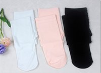 siyah ayaksız tozluklar toptan satış-Moda Çıplak Siyah Beyaz Ayaksız Çocuk Tayt Naylon Tayt Kız Çocuk Bale Dans Külotlu 80D