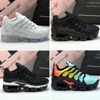 erkek kızlar gündelik beyaz ayakkabılar toptan satış-Yeni Çocuklar Artı Tn Çocuk Ebeveyn Çocuk Rahat Ayakkabılar Erkek Bebek Kız Moda Tasarımcısı Sneakers Beyaz Koşu Açık Eğitmen Ayakkabı 28-35