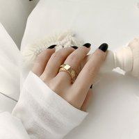 Wholesale simple gold rings for girls for sale - Group buy INS Fashion Women Gold Ring Vintage Style Cross Ladies Rings Personality Simple Girls Band Ring for Night Club