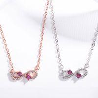 colares de cristal high-end venda por atacado-Versão coreana do novo número da sorte 8 de prata banhado incrustada de cristal natural colar de pingente de jóias de moda high-end das mulheres