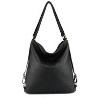 schwarze mode tasche großhandel-Kunstleder Umhängetasche Weibliche Große Handtasche Frauen Schwarz Farbe Pop Vogue Totes Taschen Frau Hobos