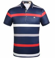 polo short à carreaux achat en gros de-2019 New Polo Shirt Hommes Haute Qualité BB Broderie LOGO Grande Taille M-3XL À Manches Courtes D'été Casual Coton Polo Shirt Hommes