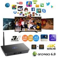 Wholesale android tv box 64 bit resale online - X92 G G Amlogic S912 Octa Core bit Android TV BOX G G G Dual Wifi HDMI K VP9 H BT4 Smart Media Player