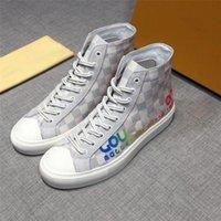 çizme astarı toptan satış-19SS Lovutt Stellar hattı Yüksek top sneakers ayakkabı Deri Erkek SNEAKERS BOOT Deri Sneaker Spor Ayakkabı Orijinal Kutusu Ile 18AW