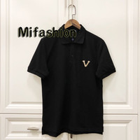 Wholesale european tee for sale - Group buy 19ss Summer Europe Paris Sequins Embroidery Polos Fashion Luxury Mens Designer Cotton Patch Color Collar Polo Casual Women Tee T shirt