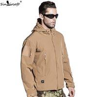 ropa de camuflaje marrón al por mayor-Ejército militar SINAIRSOFT chaqueta táctico Escudo Lurker piel de tiburón multifuncional TAD 4.0 tela de Caza prueba de viento impermeable