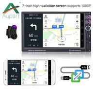 teléfono en idioma chino al por mayor-Autoradio DVD del coche 2Din 7''inch LCD de pantalla táctil de Bluetooth estéreo ayuda MP3 / MP4 / MP5 USB TF AUX múltiples idiomas de menú cámara de visión trasera
